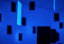 Black over blue, 2011